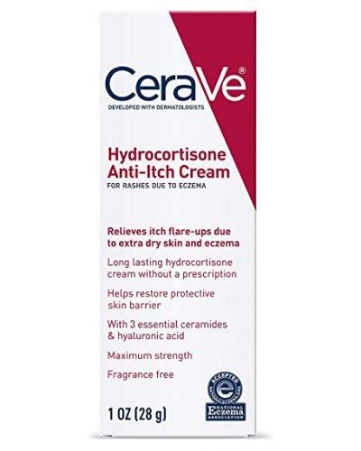 CeraVe Hydrocortisone Cream 1% | 1 Ounce | Eczema Treatment & Dry Skin Itch Relief Cream | Fragrance Free